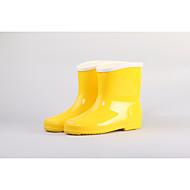 tanie Obuwie dziewczęce-Dla dziewczynek Buty Skóra PVC Jesień Zima Gumowce Buciki Kozaki do połowy łydki na Casual Na wolnym powietrzu Yellow Różowy Light Blue