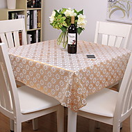 billige Bordduker-Moderne PVC Kvadrat Duge Blomstret Printer Borddekorasjoner