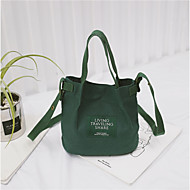 baratos Bolsas de Ombro-Mulheres Bolsas Tecido Bolsa de Ombro Ziper Verde Escuro / Azul Céu / Khaki