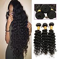 6 pakettia Intialainen Kihara 8A Aidot hiukset Aitohiuspidennykset Luonnollinen väri Hiukset kutoo Vastasyntynyt Tulokas kuuma Myynti Hiukset Extensions Naisten