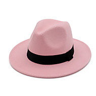 Women's Vintage / Party / Basic Cotton Fedora Hat - Solid Colored