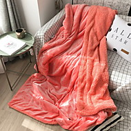 cheap Blankets & Throws-Coral fleece, Printed & Jacquard Print Cotton / Polyester Acrylic Fibers Blankets