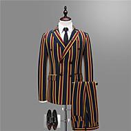 Χαμηλού Κόστους Ανδρική Μόδα & Ρούχα-Ανδρικά Στολές Πάρτι Καθημερινά Ριγέ Συνδυασμός Χρωμάτων Κλασικό Πέτο / Μακρυμάνικο