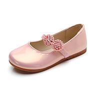 baratos Sapatos de Menina-Para Meninas Sapatos Couro Ecológico Primavera Verão Conforto Rasos Caminhada Laço para Infantil / Bébé Branco / Preto / Rosa claro