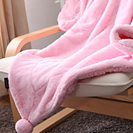 cheap Blankets & Throws-Coral fleece, Yarn Dyed Plaid Acrylic Fibers Polyester / Polyamide Blankets
