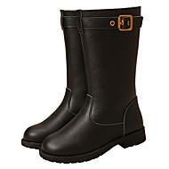 baratos Sapatos de Menina-Para Meninas Sapatos Pele Outono / Inverno Botas da Moda / Coturnos Botas para Preto / Café