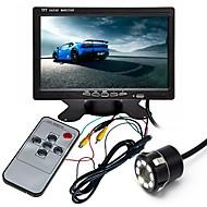 billiga Parkeringskamera för bil-ZIQIAO 7 tum TFT-LCD CCD Kabel 170 grader Bil baksidesats Vattentät / LCD-skärm / Multifunktionell display för Bilar