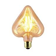 baratos Incandescente-1pç 40 W E26 / E27 Estrela Amarelo Quente 2300 k Retro / Decorativa / Stripes / Ripples Incandescente Vintage Edison Light Bulb 220-240 V