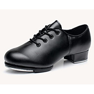 billige Men's Dance Shoes-Herre Steppdans Lær Oxford Tykk hæl Dansesko Svart / Ytelse / Trening