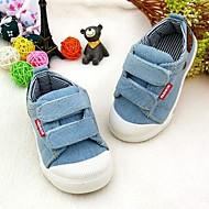 baratos Sapatos de Menino-Para Meninos Sapatos Lona Primavera Conforto Tênis Velcro para Azul Escuro / Azul Claro