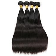 Lot de 4 Cheveux Malaisiens Droit 8A Cheveux Naturel humain Tissages de cheveux humains Extensions Naturelles 8-28 pouce Couleur naturelle Tissages de cheveux humains Extention Grosses soldes