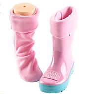 baratos Sapatos de Menina-Para Meninas Sapatos Silicone Primavera & Outono Botas de Chuva Botas para Verde / Azul / Rosa claro