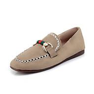 cheap Women's Flats-Women's Shoes Leatherette Spring / Fall Comfort Flats Flat Heel Round Toe Buckle Black / Beige / Gray