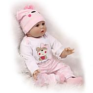 NPKCOLLECTION NPK-PUPPE Lebensechte Puppe 24 Zoll Silikon - Neugeborenes lebensecht Niedlich Kindersicherung Non Toxic Handaufgetragene Wimpern Kinder Unisex / Mädchen Spielzeuge Geschenk / ASTM