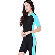 cheap -SBART Women's Dive Skin Suit SPF50, UV Sun Protection, Quick Dry Chinlon Short Sleeve Swimwear Beach Wear Diving Suit Swimming / Diving / Surfing