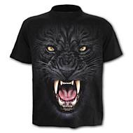 男性用 プリント Tシャツ 誇張された ストリートファッション カラーブロック 動物