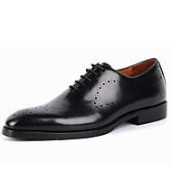 baratos Sapatos Masculinos-Homens Sapatos formais Couro Primavera Conforto Oxfords Preto / Marron