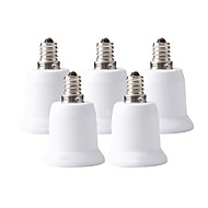 billige belysning Tilbehør-ZDM® 5pcs E12 til E27 E26 / E27 E12 Omformer Bulb Accessory Lysstikkontakt Plast og Metall