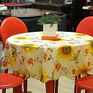 billige Duker-Land PVC Rund Duge Blomstret Borddekorasjoner 1 pcs