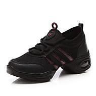 billige Moderne sko-Dame Dansesko / Moderne sko Tyll Joggesko Tvinning Flat hæl Kan spesialtilpasses Dansesko Svart