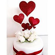 Figure za torte Cvjetni Tema / Romantika / Vjenčanje Stilski / Heart Shape Papir Vjenčanje / Rođendan s Srce 7pcs OPP