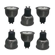 billige Innfelte LED-lys-ZDM® 6pcs 4W 1 LED LED-spotpærer Varm hvit Kjølig hvit Naturlig hvit 85-265V Kommersiell Hjem / kontor