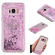 billiga Mobil cases & Skärmskydd-fodral Till Samsung Galaxy S7 edge / S7 Flytande vätska / Spegel Skal Glittrig Hårt TPU för S9 / S8 Plus / S8