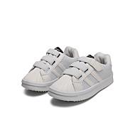 baratos Sapatos de Menina-Para Meninas Sapatos Tule / Couro Ecológico Primavera Verão Conforto Tênis Caminhada Presilha para Adolescente Branco / Preto / Rosa claro
