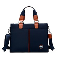 billige Computertasker-Oxfordtøj Laptoptaske Lynlås Sort / Mørkeblå / Brun