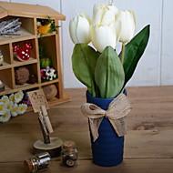 billige Kunstig Blomst-Kunstige blomster 1 Afdeling Rustikt Tulipaner Bordblomst
