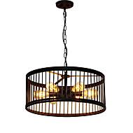 billiga Belysning-QIHengZhaoMing 6-Light Utomhus Ljuskronor Glödande 110-120V / 220-240V, Varmt vit, Glödlampa inkluderad / 15-20㎡ / CE