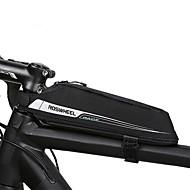 0.4 L Bisiklet Çerçeve Çantaları En Tüplü Çanta Üçgen Çerçeve Çanta Taşınabilir Dayanıklı Bisiklet Çantası Kumaş Bisikletçi Çantası Bisiklet Çantası Bisiklete biniciliği / Bisiklet