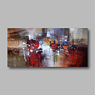 cheap Oil Paintings-Oil Painting Hand Painted - Abstract Landscape Comtemporary Canvas