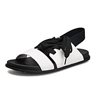 tanie Obuwie męskie-Męskie Komfortowe buty Syntetyczny Lato Sandały Biały / Czarny