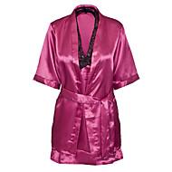 Dame Uniformer og kinesiske kjoler Nattøj - Trykt mønster, Broderi
