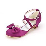 baratos Sapatos de Menina-Para Meninas Sapatos Cetim Primavera Verão Sapatos para Daminhas de Honra / Salto minúsculos para Adolescentes Sapatos De Casamento