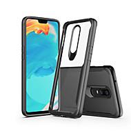 billiga Mobil cases & Skärmskydd-fodral Till OnePlus OnePlus 6 / OnePlus 5T Häftig Skal Enfärgad Hårt PC för OnePlus 6 / OnePlus 5T