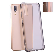 Case For Huawei P20 / P20 lite Shockproof / Translucent Back Cover Solid Colored Soft TPU for Huawei P20 / Huawei P20 lite