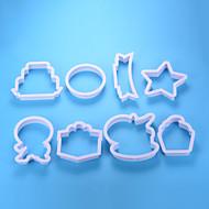 billige Kjeksverktøy-Bakeware verktøy Aluminium Ny ankomst / 3D / GDS Til Kake / Party / Bursdag Cake Moulds 8pcs