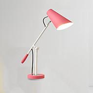 billige Skrivebordslamper-Moderne / Nutidig Øyebeskyttelse Swing Arm Dekorativ Skrivebordslampe Til Metall 110-120V 220-240V Hvit Svart Rosa