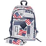 billige Skoletasker-Unisex Tasker PVC Sportstaske Mønster / tryk Geometrisk Sort / Rød / Rød