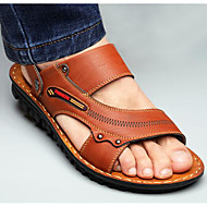 baratos Sapatos Masculinos-Homens Sapatos Confortáveis Couro Ecológico Verão Sandálias Castanho Claro / Castanho Escuro / Ao ar livre