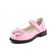 baratos Sapatos de Menina-Para Meninas Sapatos Courino Primavera Verão Conforto Rasos Caminhada para Infantil / Bébé Preto / Vermelho / Rosa claro