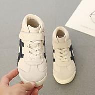 baratos Sapatos de Menino-Para Meninos Sapatos Pele Outono & inverno Conforto Tênis Velcro para Branco / Preto / Bege