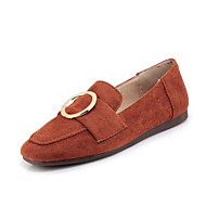 baratos Sapatos Femininos-Mulheres Sapatos Pele Nobuck Primavera / Outono Conforto Rasos Sem Salto Ponta quadrada Presilha Preto / Bege / Amarelo