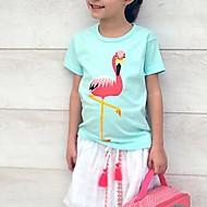 Børn / Baby Pige Kran Houndstooth mønster Kortærmet T-shirt