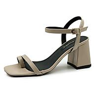 Χαμηλού Κόστους Shoes Trends-Γυναικεία Παπούτσια PU Καλοκαίρι Ανατομικό Σανδάλια Κοντόχοντρο Τακούνι Μαύρο / Κόκκινο / Αμύγδαλο