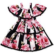 子供 女の子 フラワー 半袖 ドレス