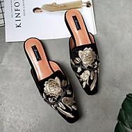 baratos Sapatos Femininos-Mulheres Sapatos Couro Ecológico Primavera / Outono Conforto Tamancos e Mules Sem Salto Branco / Preto / Roxo