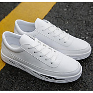 cheap Men's Sneakers-Men's Shoes Faux Leather Spring Comfort Sneakers White / Black / Gray